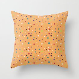 Modern geometrical colorful abstract polka dots Throw Pillow