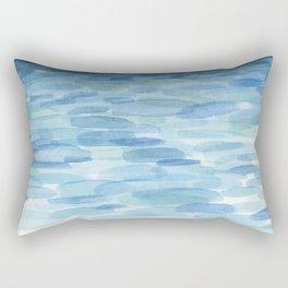 Sunset and Ocean Watercolor Rectangular Pillow