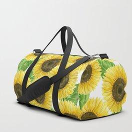 Sunflowers watercolor Duffle Bag