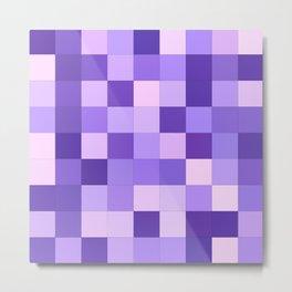Pastel purple squares Metal Print