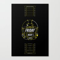 friday night lights Canvas Prints featuring Friday Night Lights  by Panda Kero