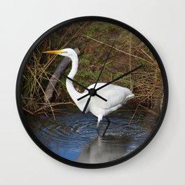 Just Right (Great Egret) Wall Clock