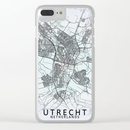 Utrecht, Netherlands, White, City, Map Clear iPhone Case