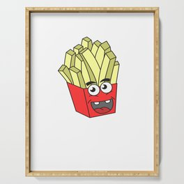 Awesome Trend Design Fryday Tshirt fry day make me happy Serving Tray