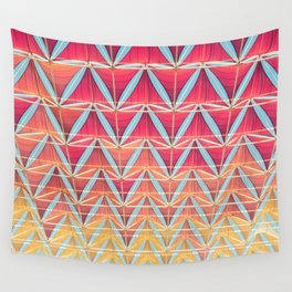 From pink to yellow pattern Wall Tapestry