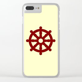 Dharmachakra 4 Clear iPhone Case