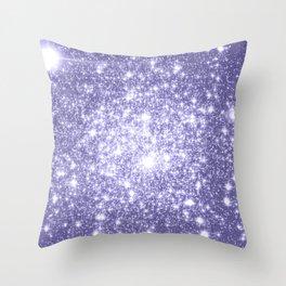 Galaxy Sparkle Dark Lavender Throw Pillow