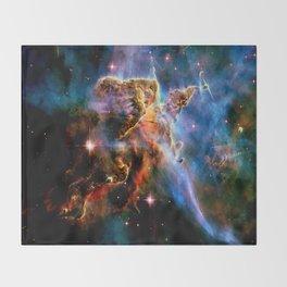 GAlAxY : Mystic Mountain Nebula Throw Blanket
