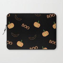 Halloween bat and pumpkin Laptop Sleeve