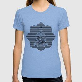 Optical Illusion Line Buddha T-shirt