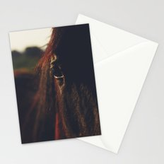 Horse, macro photography, head, mane, sunset, hasselblad, italy, horses Stationery Cards