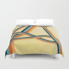 Grungy abstract geometric lines Duvet Cover