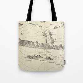 Vintage Map of The White Mountains (1852) Tote Bag