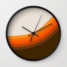 Golden Horizon Diptych - Right Side Wall Clock