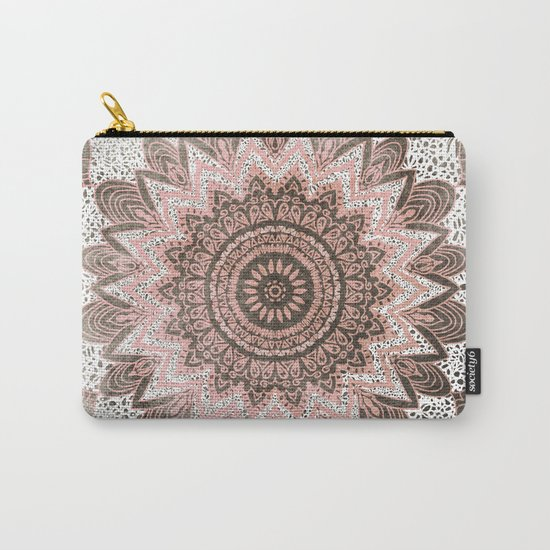 BOHOCHIC MANDALA IN CORAL Carry-All Pouch