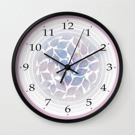Frozen Leaves 10 Wall Clock