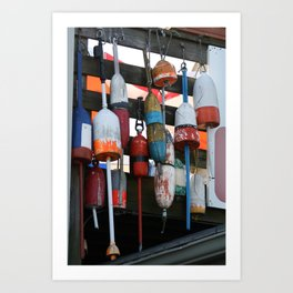Cape Cod Bouys Art Print