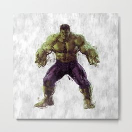 Hulk Hero Metal Print
