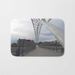 Pedestrian Bridge Crossing into Denver Highlands Bath Mat