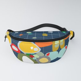 ON THE GRID navy Fanny Pack