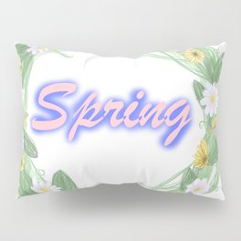 spring graffiti floral wreath Pillow Sham