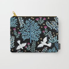 white birds garden Carry-All Pouch