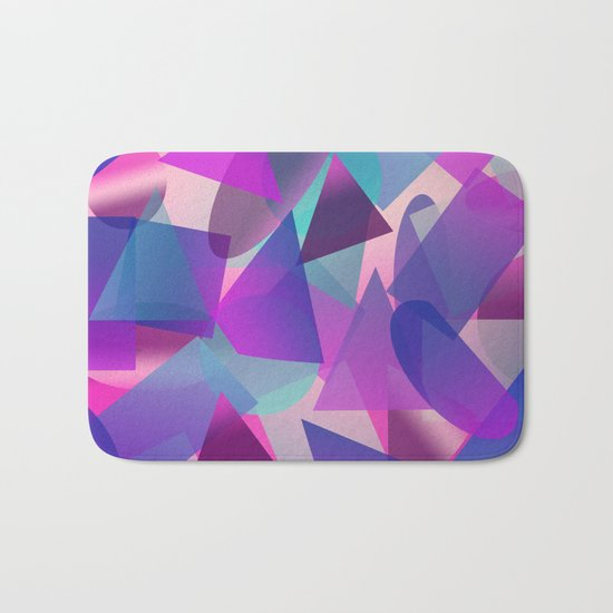 Abstract cube II Bath Mat