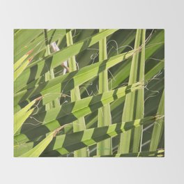 TEXTURES -- Palm Fronds Intersecting Throw Blanket