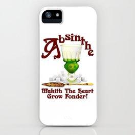 """Absinthe Makith The Heart Grow Fonder!"" #2 iPhone Case"