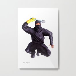 Bathroom Ninja Metal Print