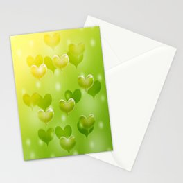 sweethearts green Stationery Cards