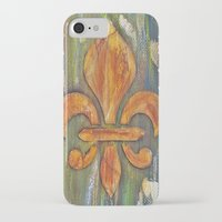 fleur de lis iPhone & iPod Cases featuring Fleur De Lis by Crystal Nero