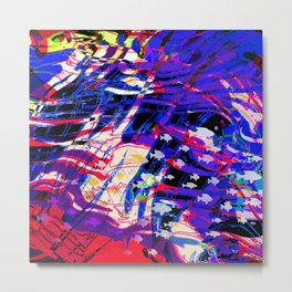 Fluid Abstract 35; Chaos in an Ocean Full of Fish Metal Print
