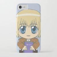 shingeki no kyojin iPhone & iPod Cases featuring Shingeki no Kyojin - Chibi Armin Flats by Tenki Incorporated