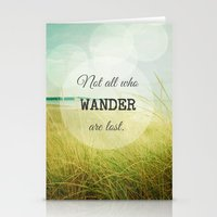 wander Stationery Cards featuring Wander by Olivia Joy StClaire
