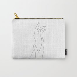 Hands line drawing illustration - Dia Carry-All Pouch