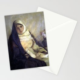 Pascal-Adolphe-Jean Dagnan-Bouveret Madonna of the Rose Stationery Cards