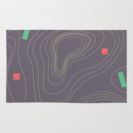 Map land color pattern Rug