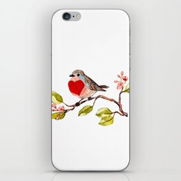 heart bird iPhone Skin