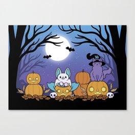 Pumpkin Patch at Night Canvas Print