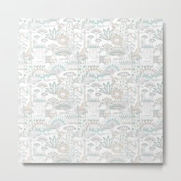 Baobab safari party pattern Metal Print