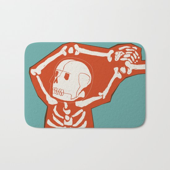 Overlay Skeleton Bath Mat