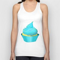 cupcake Tank Tops featuring Cupcake by tiffato3