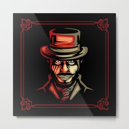 Dr jekyll Half Monster Metal Print
