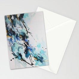 Bercée par le vent froid de l'hiver Stationery Cards