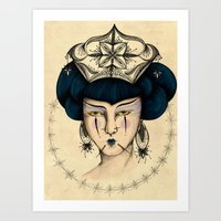 asia Art Prints featuring Asia by Priscila Floriano