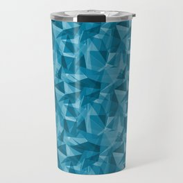 Abstract Geometrical Triangle Patterns 3 VA Primary Blue - Wishing Well Blue - Amazing Sky Blue - Bl Travel Mug