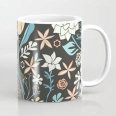Tulip flowerbed, blue Mug