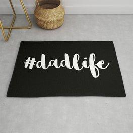 #DadLife White Typography Rug