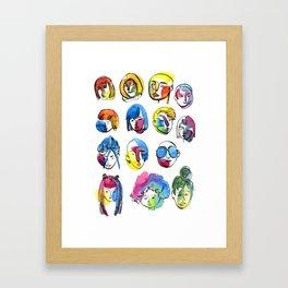 3-color-girls Framed Art Print